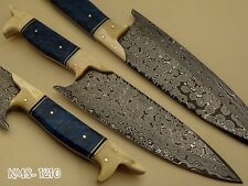 BEAUTIFUL HAND MADE DAMASCUS STEEL KITCHEN / HUNTING / CHEF KNIFE BY KNIFE MAKER