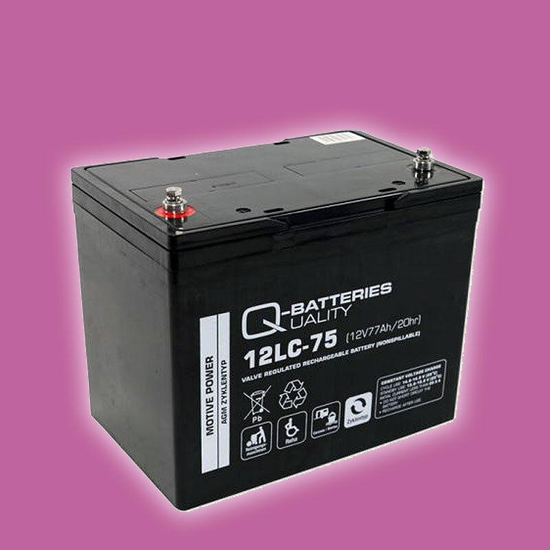 Blei AGM Akku Batterie 12V 77Ah Elektro Außenborder Sevylor SBM30
