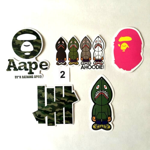 Bape  ** PRICE FOR 1 SET 3 SETS TO CHOOSE ** Skateboard Stickers Ape