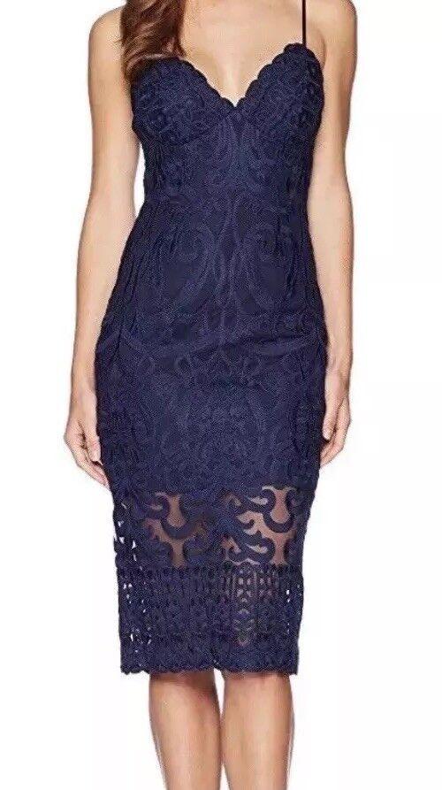 BARDOT WOMEN'S GIA LACE OVERLAY PENCIL DRESS SPAGHETTI STRAPS SIZE 8 M C12