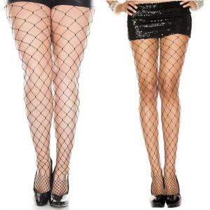 c0b107fbd Goth Punk Floral Top Wide Diamond Net Fishnet Pantyhose Stocking ...