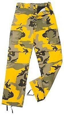 Stinger Yellow Camo Ultra Force Bdu Camouflage Pants Trousers Pantaloni Xl-mostra Il Titolo Originale