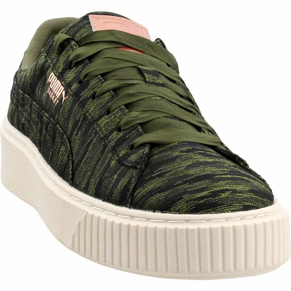 puma basket platform verde militare