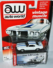 Vintage AutoWorld - 1969 PONTIAC FIREBIRD - white/blue stripes 1:64  Auto World