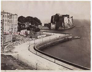 Napoli-Castel-Dell-039-Ovo-Lavoro-Italia-Foto-Sommer-Vintage-Albumina-Ca-1875