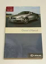 2006 LEXUS SC430 SC 430 OWNERS MANUAL USER GUIDE V8 4.3L  CONVERTIBLE COUPE OEM