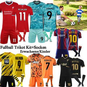 20-21-Fussball-Trikot-Sets-Kinder-3-14Y-Jungen-Sport-Jersey-Kit-Socken-Erwachsene