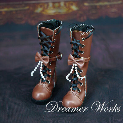 Mimi Collection MSD Doc 1//3 BJD Obitsu Doll PUNK cross brown Short Boots