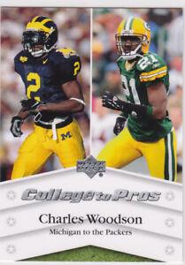 best service f1539 075fd Details about CHARLES WOODSON College Pros MICHIGAN WOLVERINES Football  Card HEISMAN WINNER!