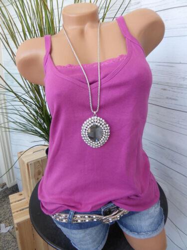 NEU Sheego Top Shirt Trägershirt Gr 408 40 Pink Ton