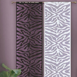 Quality-Net-Window-Panel-Blind-Curtain-ZEBRA-design-White-OR-Black-SINGLE