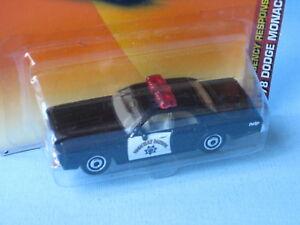 Dodge Negro Patrulla Retro Matchbox Monaco Usa Policía Clásico KTl1JFc