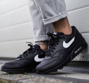 huge discount 374cd de38b Details about Nike Air Max 90/1 Men's Black/White Sneaker Lifestyle Shoes