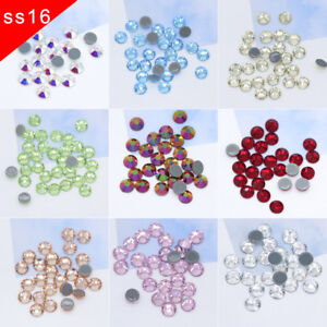 f99fdd2177 Details about 5A SS16 41-Color Iron On Hotfix Rhinestones Flatback Hot Fix  Glass Strass stone