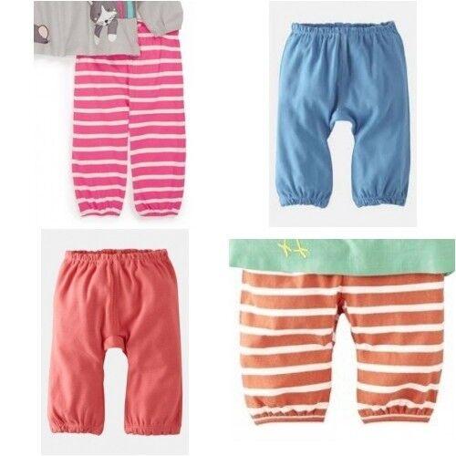 Baby Girls NEW ex Mini Boden Jersey Trousers Joggers Leggings Stripe//Plain//Flora