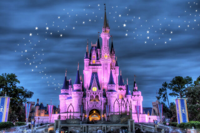 Disney Castle - CANVAS OR PRINT WALL ART