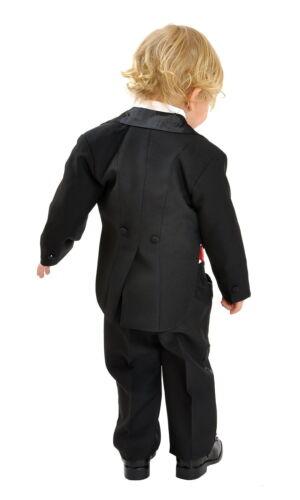 5tlg Kinderanzug Frack Anzug Smoking Kombination Hochzeit Taufe Kommunion 92//98