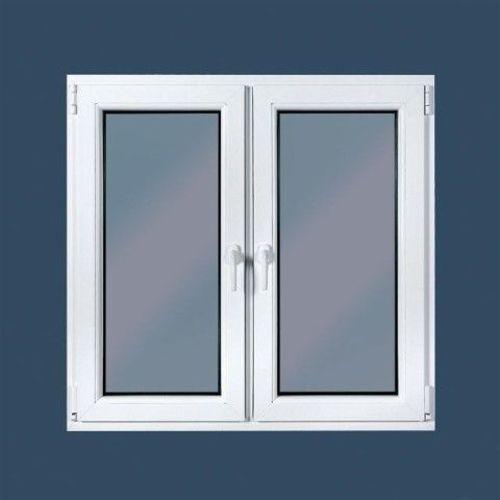 Kunststoff Fenster 2-flügelig, 2-fach Verglasung B 800 mm x H 600 mm