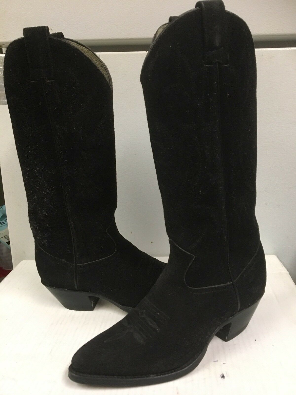 Creations by Lama Suede Women's Black Suede Lama Western Boots  2406 Size US 4.5 NEW 1bd33d