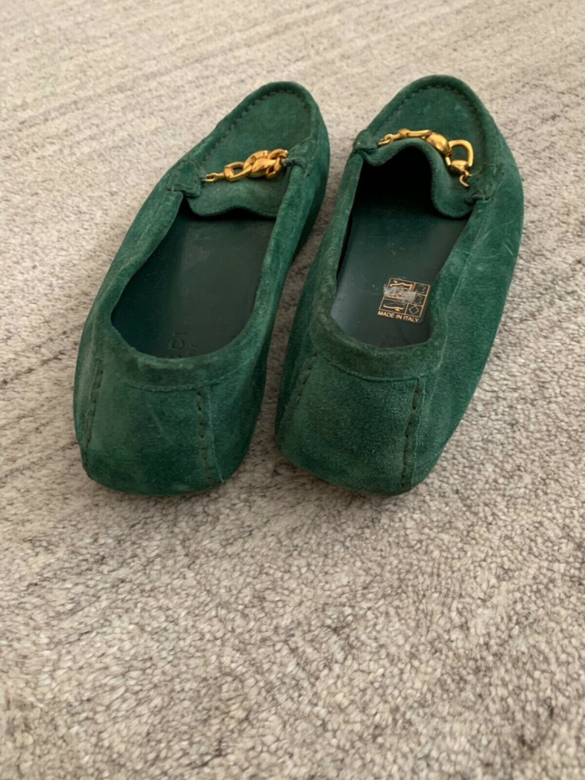 Gucci Suede Green Loafers - image 2