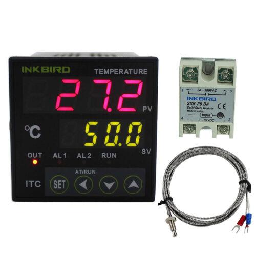 DC 12V 24V PID Temperature Controller K sensor 25A SSR