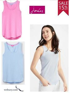 Joules-Bo-Jersey-Vest-Top-Sky-Blue-or-Carnation-Pink-Sizes-UK8-20-SALE-15-OFF