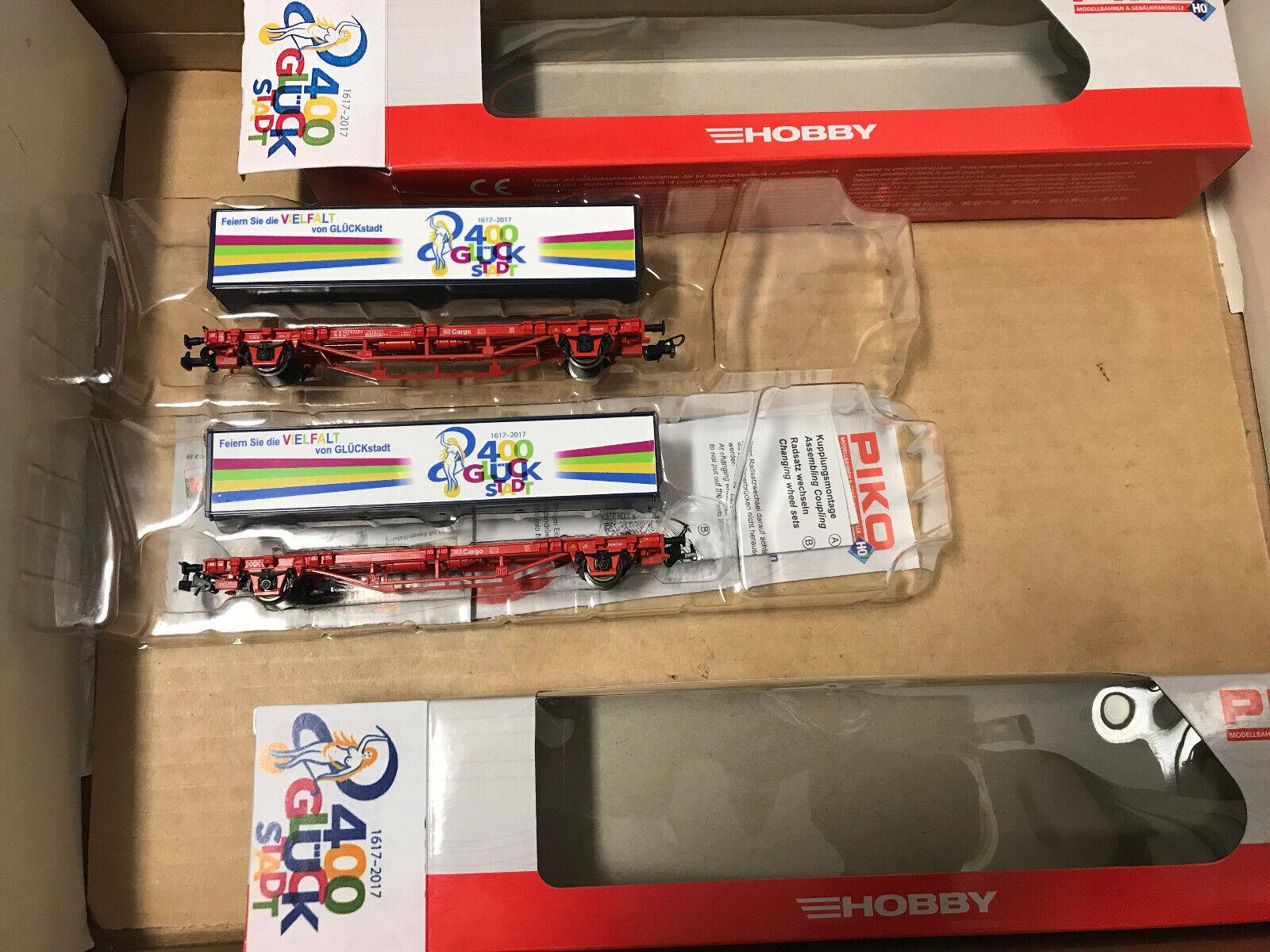 Así. mo. Piko 2 x Cocherito de contenedores  400 años de felicidad ciudad  nuevo + embalaje original
