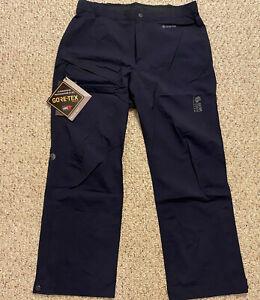 NEW-Mens-Mountain-Hardwear-Exposure-2-GORE-TEX-PACLITE-Stretch-Rain-Pants-Large