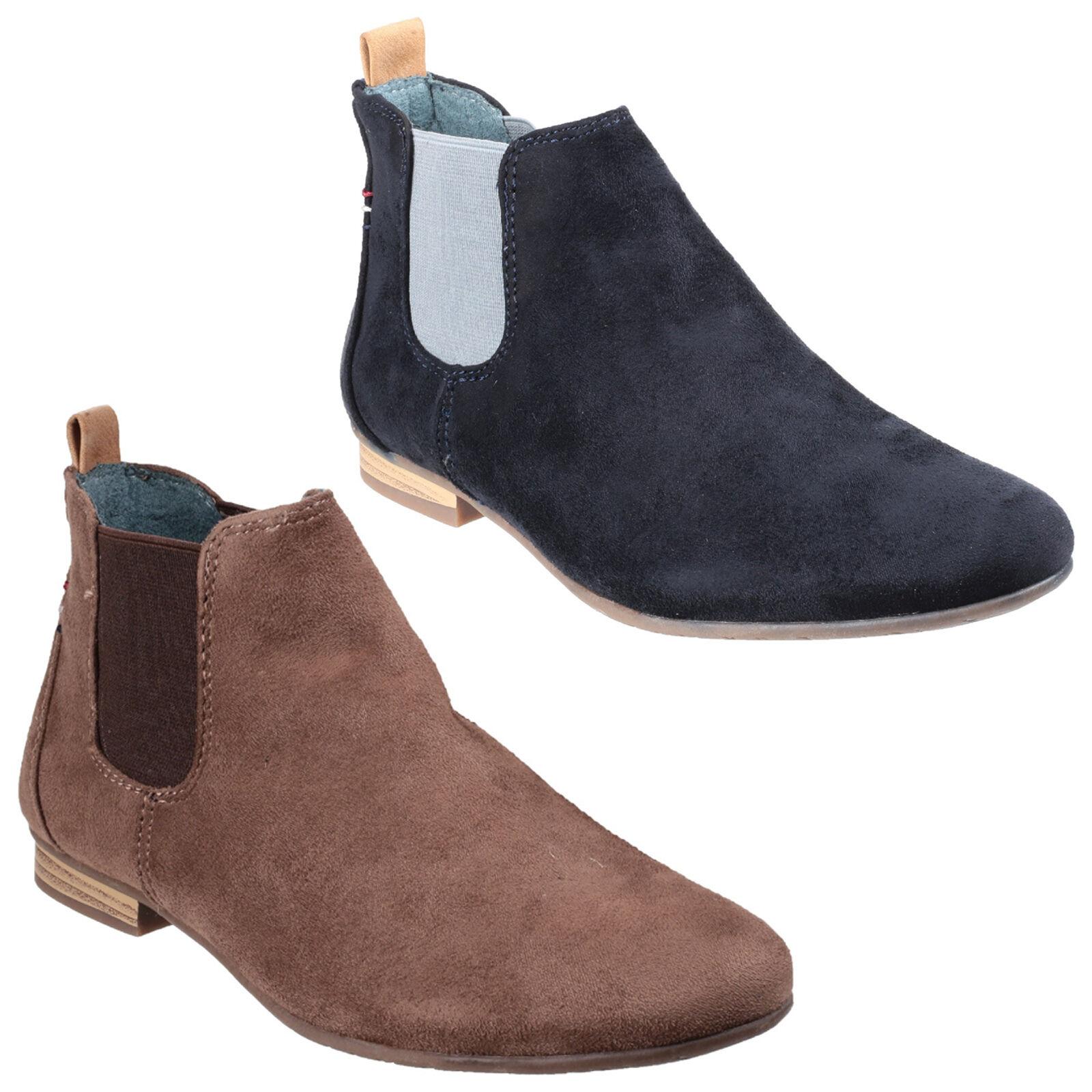 Divaz Pisa Faux Suede Ankle Womens Smart Casual Fashion Boots shoes UK3-8