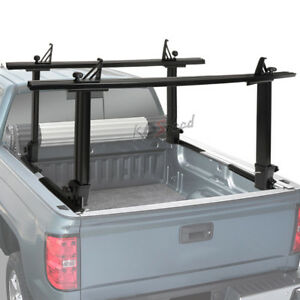 Details About 450 Lbs Black Two Bar Pickup Bed Mouting Ladder Kayak Canoe Utility Rack Carrier