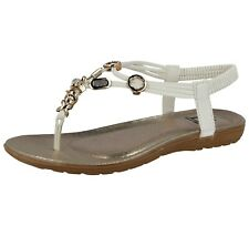 e198d837d item 1 Ladies Faux Leather Metallic Toe Post Elastic Sling Back Strappy Summer  Sandals -Ladies Faux Leather Metallic Toe Post Elastic Sling Back Strappy  ...