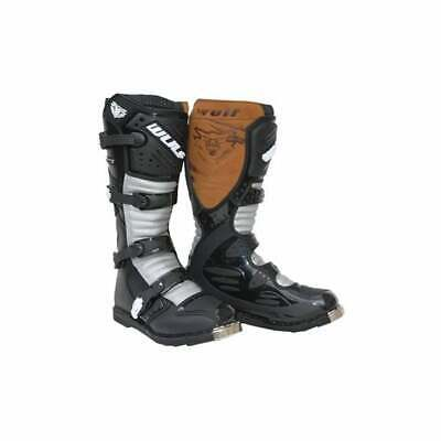 Wulfsport Adult Trials Leather Motorbike Motocross Boots Race Enduro Off Road