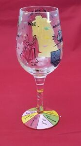 Lolita-NOT-TONIGHT-Hand-Painted-Wine-Glass-RETIRED-15-Oz-Gift-RARE