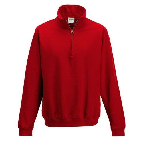 AWDis Mens Sweat JH046 Ladies Sophomore 1//4 Zip Neck Sweatshirt Zip Sport Jumper