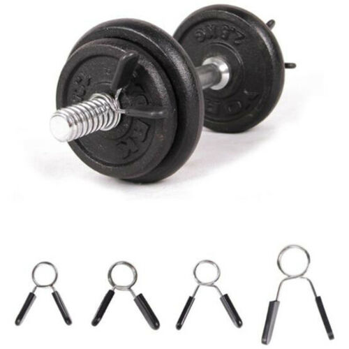 Details about  /Barbell Clamp Spring Collar Clips Gym Weight Dumbbell Lock Kit Barbell LockTEFzo