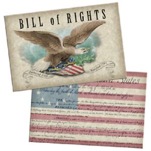 Bill of Rights Lenticular Postcard NEW