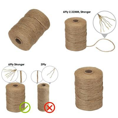 Gifts Crafts Natural Thick Brown Twine For Garden Vivifying  Jute Twine