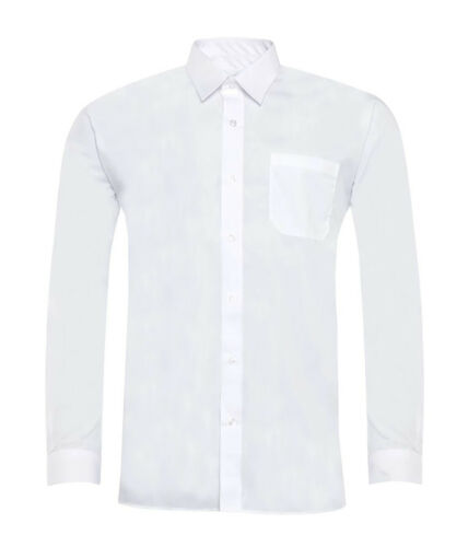 Boys Children Poly Cotton Long Short Sleeve School Shirt Uniform