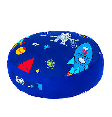 Space Boy Print Children's Large Floor Cushion Soft Filled Huge Play Seat Pillow