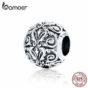 BAMOER-Solid-s925-Sterling-silver-Charm-Bead-European-Love-Fit-Bracelet-Jewelry