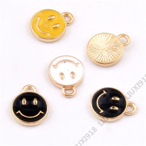 Smiling face Charm Pendant Accessories Jewelry Making Small Pendant Finding V943