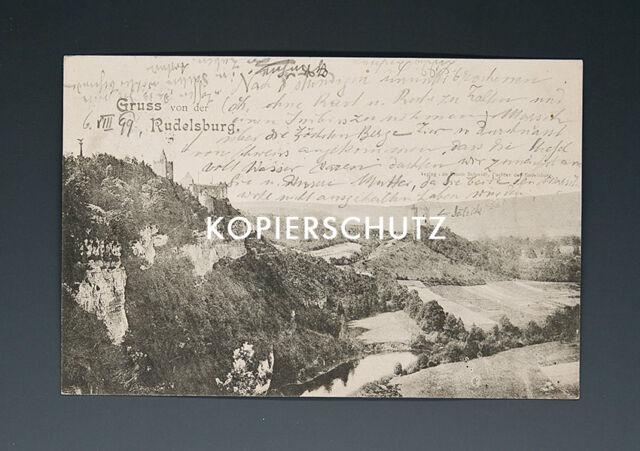 Ansichtskarte GRUSS von der RUDELSBURG um 1899