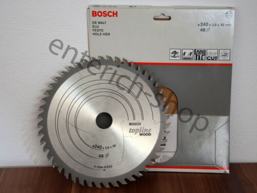 48 Zähne topline WOOD DYANITE BOSCH Kreissägeblatt 240mm 30mm