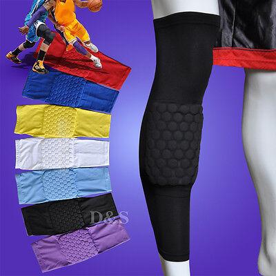 Kids Basketball Long Sleeve Honeycomb Foam Brace Crashproof Leg Kneecap Pad