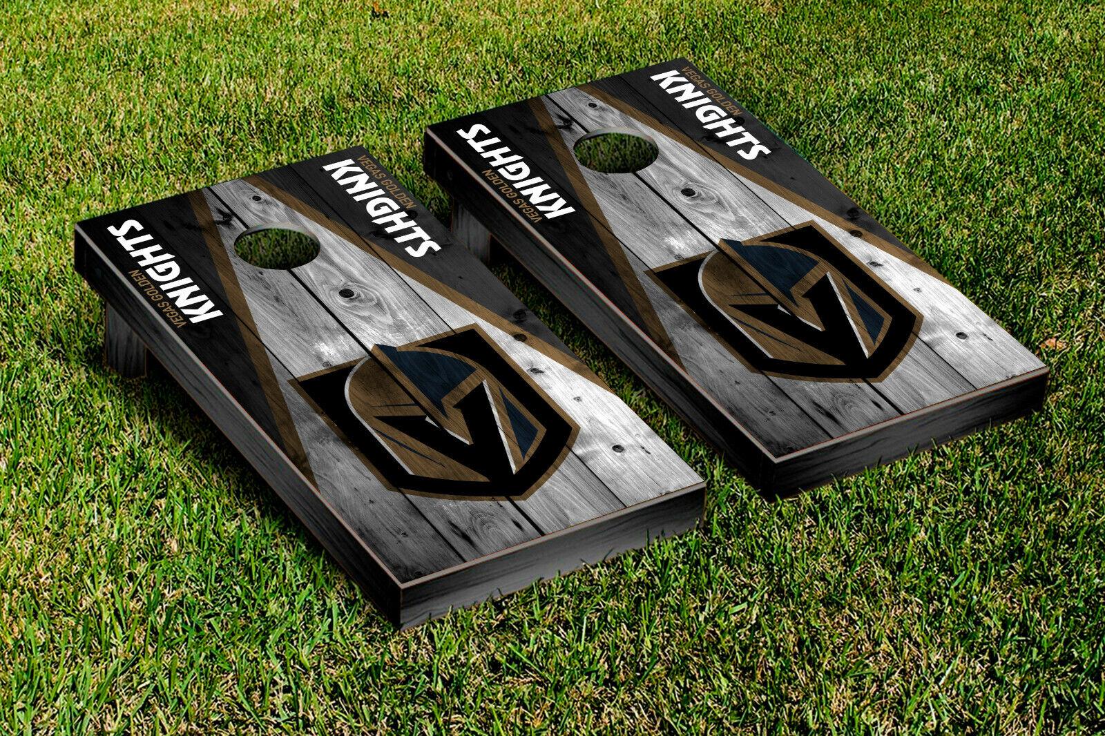 Vegas Golden Knight Cornhole Wrap Vinyl Sheets For Wrapping Cornhole Boards