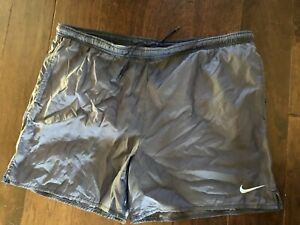 9a6d3357836 Vintage Vtg 90's Nike Swim Trunks Mens Big Swoosh Sz XL Spell Out ...