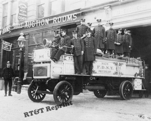 Photograph of a New York Fire Department Fire Engine 1912c   8x10
