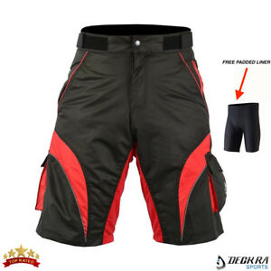 Mens-Cycling-Shorts-MTB-Bicycle-Mountain-Biking-Off-Road-HQ-Padded-Liner-Short