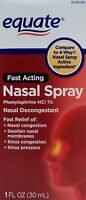 2pk Equate Fast Acting Nasal Spray 1 Fl Oz Each