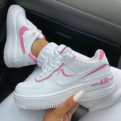 Nike Air Force 1 Women Shadow WhiteMagic FlamingoWhite ab